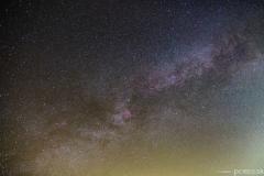 Časť Mliečnej cesty v súhvezdí Labute.